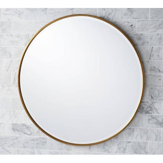 Круглое зеркало в раме Эва Латунь в интернет-магазине ROSESTAR фото