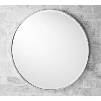 Круглое зеркало в раме Эва Серебро