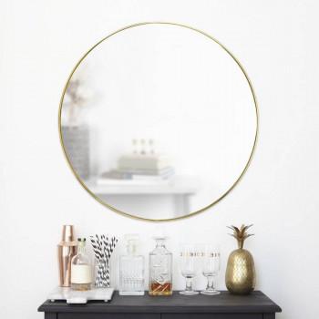 Круглое зеркало в раме Эва Золото