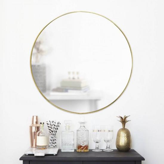Круглое зеркало в раме Эва Золото в интернет-магазине ROSESTAR фото