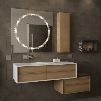 Квадратное зеркало с подсветкой Дафна