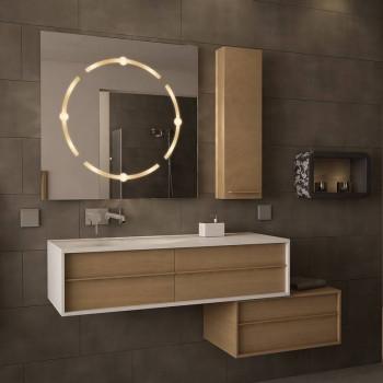Квадратное зеркало с подсветкой Кватро