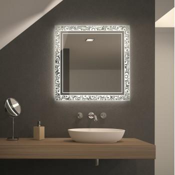 Квадратное зеркало с подсветкой Орно