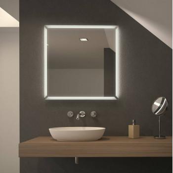 Квадратное зеркало с подсветкой Перформа