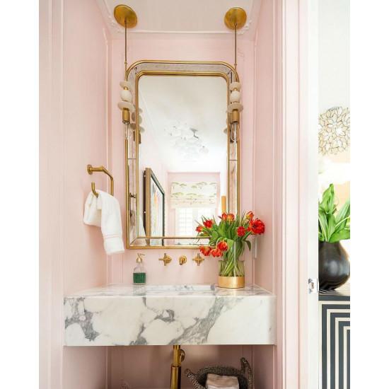 Зеркало в золотой зеркальной раме Гийом в интернет-магазине ROSESTAR фото