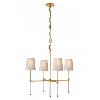 Потолочный подвесной светильник с 4-мя белыми плафонами Дэмиан Золото