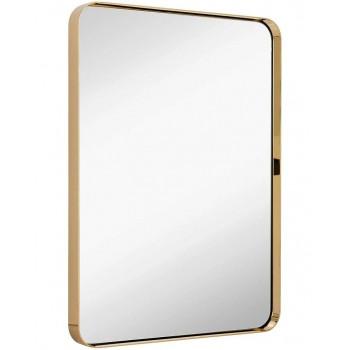 Зеркало в металлической раме Фултон Золото