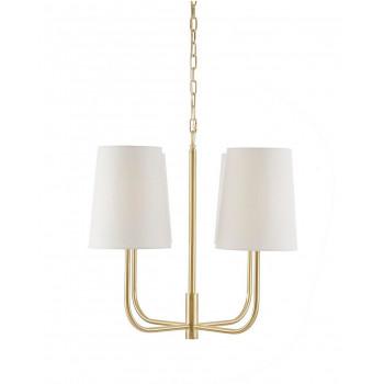 Потолочный подвесной светильник с 4-мя белыми плафонами Кристен