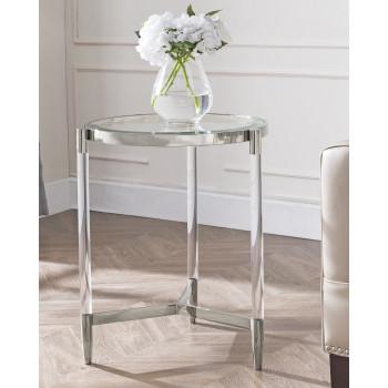 Кофейный столик круглый Стерлинг silver