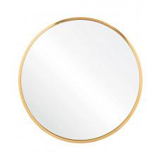 Круглое зеркало в золотой металлической раме Урсула