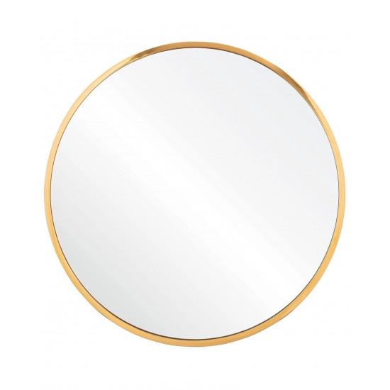 Круглое зеркало в золотой металлической раме Урсула  в интернет-магазине ROSESTAR фото