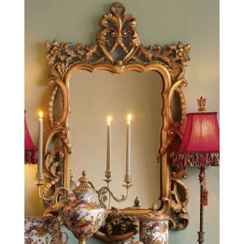 Зеркало настенное в винтажной золотой раме Беатриче