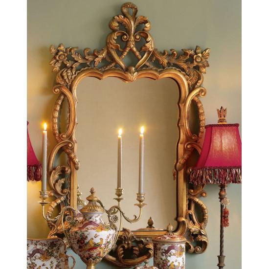 Зеркало настенное в винтажной золотой раме Беатриче в интернет-магазине ROSESTAR фото