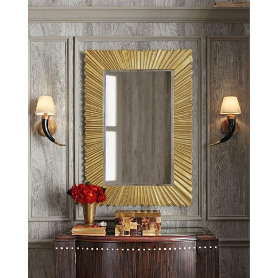 Зеркало в золотой раме настенное в раме Боско в интернет-магазине ROSESTAR фото