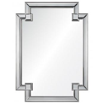 Дизайнерское оригинальное зеркало настенное Честер Серебро