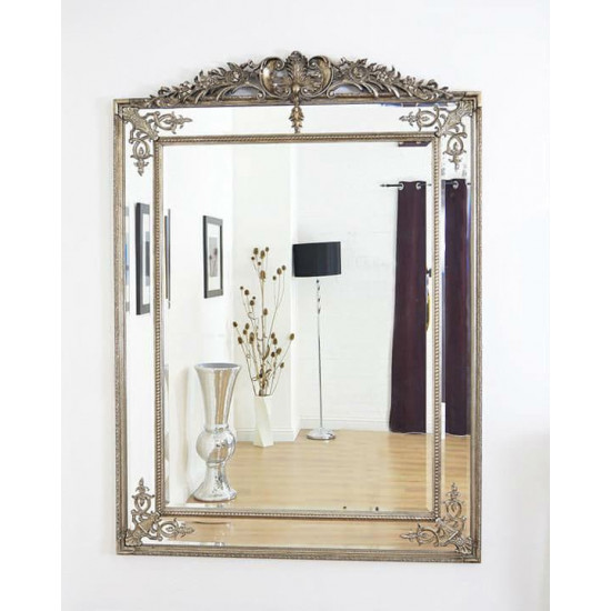 Напольное зеркало в полный рост в зеркальной раме Дилан Серебро в интернет-магазине ROSESTAR фото