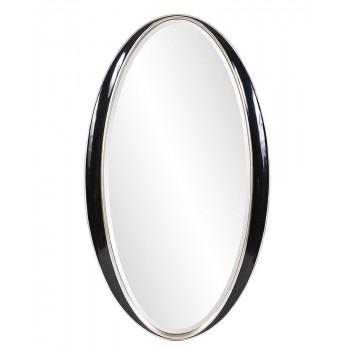 """Овальное зеркало в чёрной раме """"Дита"""""""