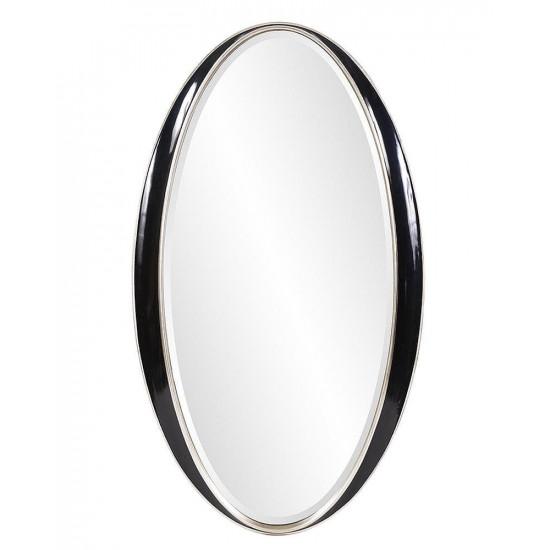Овальное зеркало в чёрной раме Дита в интернет-магазине ROSESTAR фото