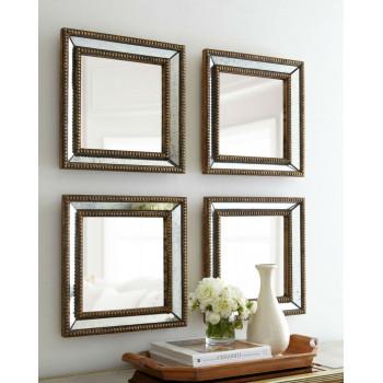 Четыре зеркала в зеркальной раме Дюмон Голд