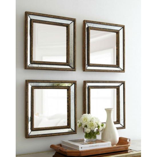 Четыре зеркала в зеркальной раме Дюмон Голд в интернет-магазине ROSESTAR фото