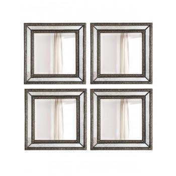 "Четыре дизайнерских зеркала ""Дюмон"" Серебро"