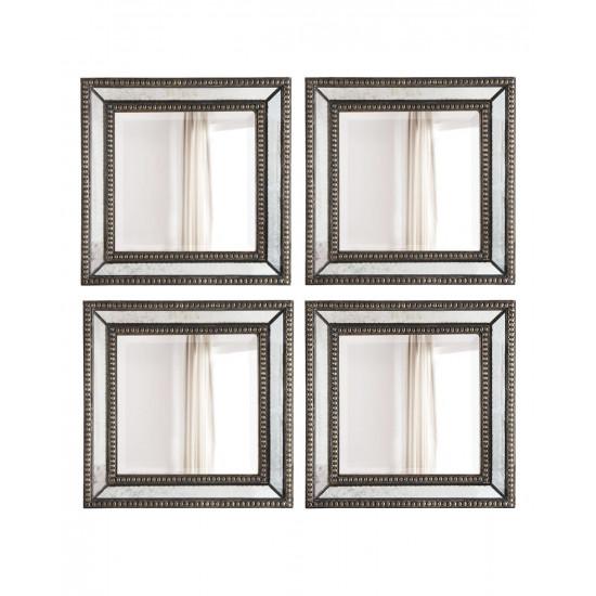 Четыре дизайнерских зеркала Дюмон Серебро в интернет-магазине ROSESTAR фото