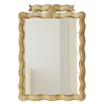 Дизайнерское красивое настенное зеркало Эбигейл Золото