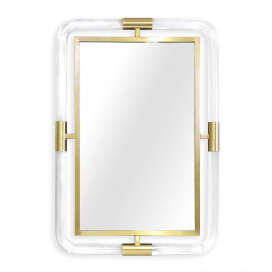 """Настенное дизайнерское зеркало в раме """"Гарольд"""" в интернет-магазине ROSESTAR фото"""