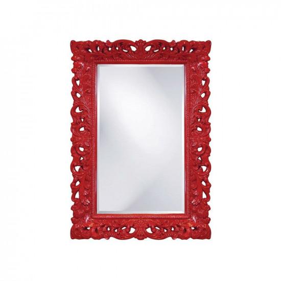 Зеркало настенное в красной раме Гэрри Red в интернет-магазине ROSESTAR фото