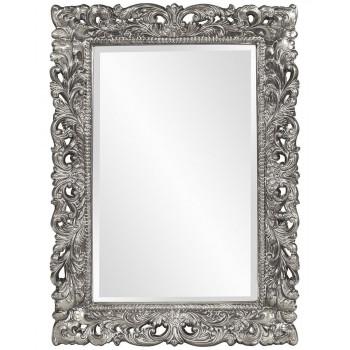 """Зеркало прямоугольное настенное в раме """"Гэрри"""" Серебро"""