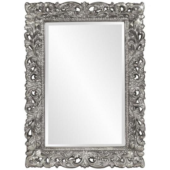 Зеркало прямоугольное настенное в раме Гэрри Серебро в интернет-магазине ROSESTAR фото