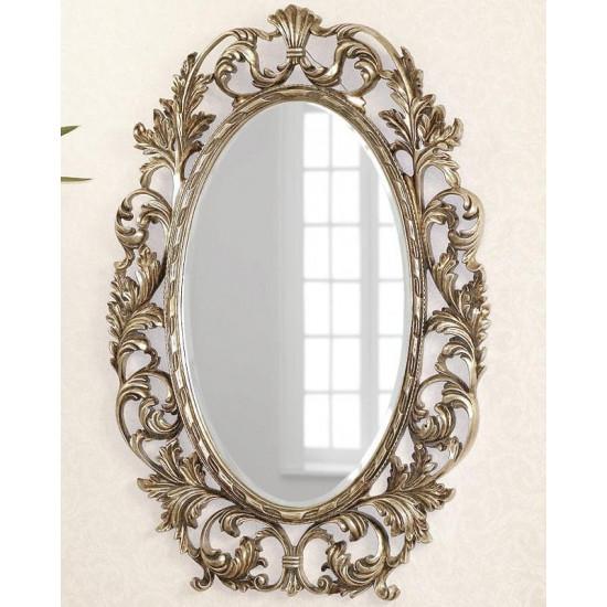 """Зеркало овальное настенное в раме """"Гойя"""" Florentine Silver в интернет-магазине ROSESTAR фото"""
