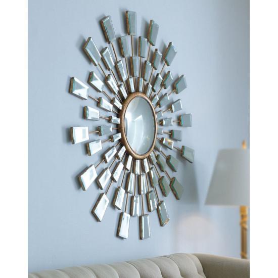 "Зеркало круглое в виде солнца ""Холи"" в интернет-магазине ROSESTAR фото"