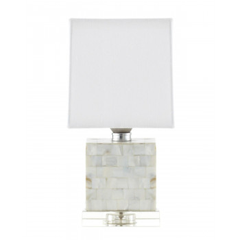 Настольная перламутровая лампа Гибсон
