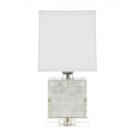 Настольная перламутровая лампа Гибсон в интернет-магазине ROSESTAR фото