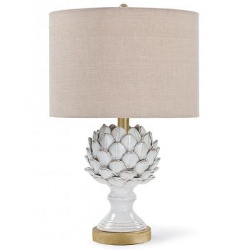 Настольная лампа Мерида Белая с золотом