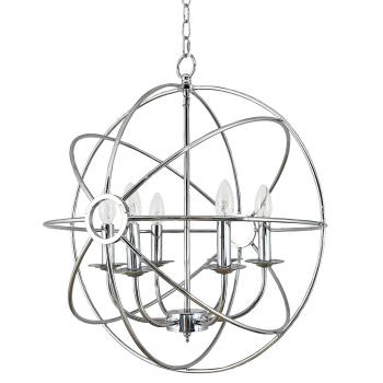 Сферическая люстра потолочная Нембус silver