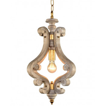 Подвесной  деревянный светильник Дега
