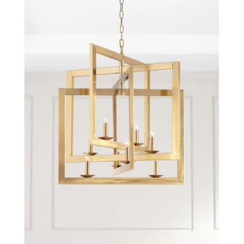 Люстра потолочная металлическая золотая Кэрри