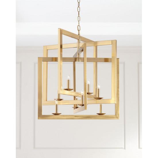 Люстра потолочная металлическая золотая Кэрри в интернет-магазине ROSESTAR фото