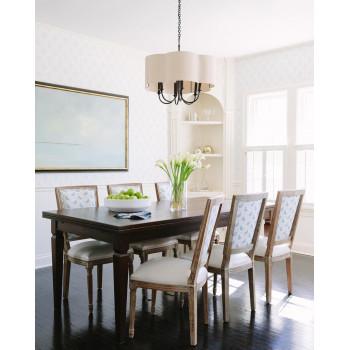 Люстра потолочная в американском стиле с 6-ю лампами Шеффилд Черная black