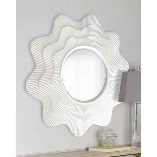 """Зеркало круглое в белой раме """"Марайа"""" в интернет-магазине ROSESTAR фото"""