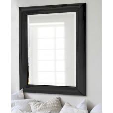 Зеркало настенное дизайнерское в чёрной раме Маркус