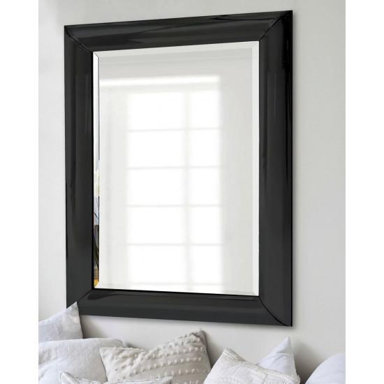 """Зеркало настенное дизайнерское в чёрной раме """"Маркус"""" в интернет-магазине ROSESTAR фото"""