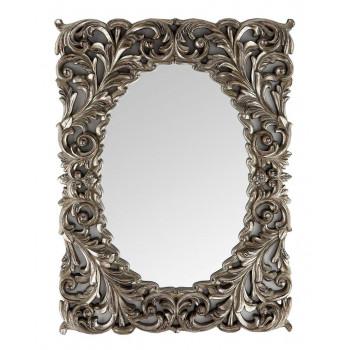 """Зеркало дизайнерское настенное в раме """"Массимо"""" Серебро"""