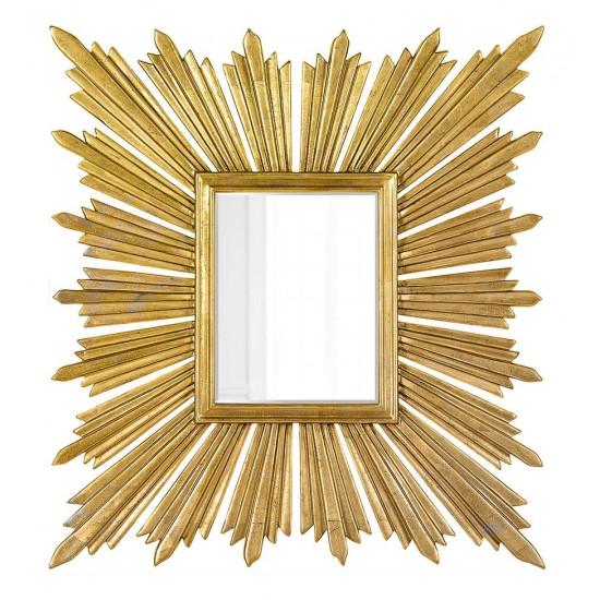 """Зеркало дизайнерское настенное """"Милфорд"""" Золото в интернет-магазине ROSESTAR фото"""