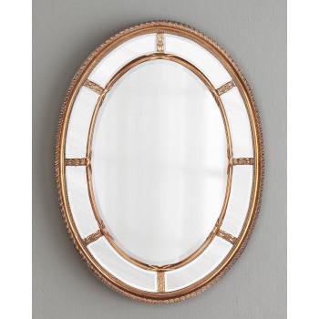 """Зеркало овальное настенное в золотой раме """"Модена"""" Золото"""