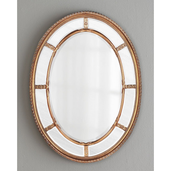 Зеркало овальное настенное в золотой раме Модена Золото в интернет-магазине ROSESTAR фото