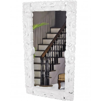 Напольное большое зеркало в белой раме в полный рост Веречелли