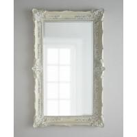 Большое напольное и настенное зеркало в полный рост Ла Манш Белое